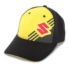 """Suzuki Moto Hat in Black/Yellow w/ """"S"""" Logo - One Size - Genuine Suzuki"""