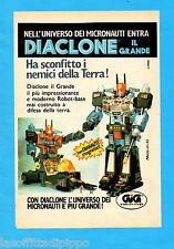 ALTOP981-PUBBLICITA'/ADVERTISING-1981- GIG - MICRONAUTI DIACLONE IL GRANDE