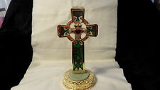"""Franklin Mint Stained Glass Celtic Cross """"Blessings of Ireland"""" NEW in box"""