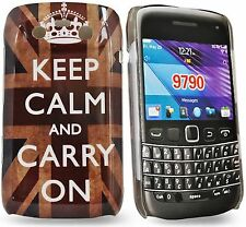 Keep Calm and Carry On Hard Case Cover Skin Pouch Shell For Blackberry Bold 9790