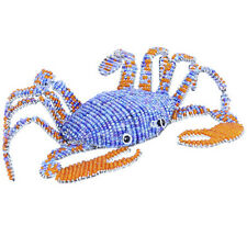 Beadworx Grass Roots Creation Handmade Beaded Blue Crab In The Sea New