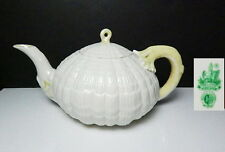 Irish Belleek TRIDACNA-YELLOW Teapot, MINT !