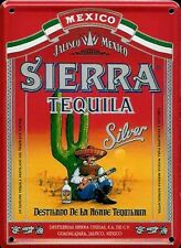 SIERRA TEQUILA SILVER WHISKY Small Metal Tin Pub Sign