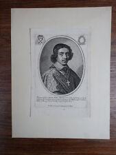 JEAN PAUL FRANCOIS DE GONDY Cardinal de Retz (1613-1679)  GRAVURE XVIIIe GONDI