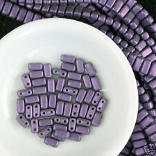 Metallic Suede Purple CzechMate Brick 3x6mm Two Hole Glass Bead (50) CMB-79021