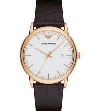 Emporio Armani  AR2502 White/Brown Leather Analog Quartz Men's Watch