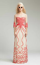 Alice Temperley London Long Ezra OYSTER MIX Evening Dress  Size UK 8 RRP £625