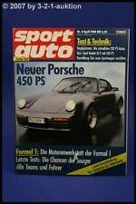 Sport Auto 4/88 911 turbo Bitter Omega 3,9 Ford RS 200