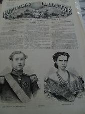 L'univers illustré 25 sept 1862 port saint pierre quai de paris princesse Pie