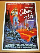 ALIEN FROM L.A. Original SCI-FI FANTASY Movie Poster KATHY IRELAND SEXY MODEL