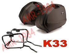 KIT VALIGIE LATERALI K33N + TELAIO GIVI PLX446 KAWASAKI ZZR 1400 ZX14 2006-2010