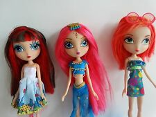 3 La Dee Da Fashion Dolls Lot, no shoes: Cyanne, City Dee & Runway Vacay