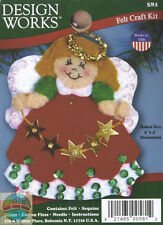 Felt Embroidery Kit ~ Design Works Angel With Stars Christmas Ornament #DW581