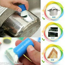 Hot 2Pc Utility Magic Stainless Rust Remover Cleaning Detergent Stick Wash Brush