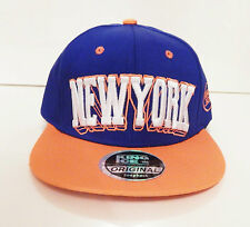 New mens womens blue orange snapback hat dope cap peak baseball NEW YORK NY logo