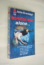 1961. INSPECTOR WEST ALONE. JOHN CREASEY. 1st EDITION FOUR SQUARE PAPERBACK.