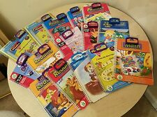 Lot of 15 LeapFrog LeapPad Interactive Book & Cartridge - Reading Math & MORE!!