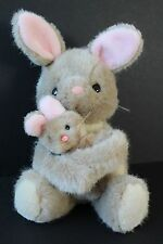 "Vintage Dakin 13"" Bunny Rabbit & Baby Pink Ears Nose Plush Stuffed Animal"