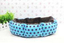 Newly Polka Dot Soft Plush Warm Pet Bed Dog Cat Puppy Cushion House Beds blue