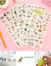 6 Sheets Cute Cat Album Diary Card Calendar Sticker SC Label Scrapbooking Crafts
