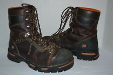 "Timberland PRO Boots Mens Endurance 8"" Steel Toe Brown SZ 10 W Work Boots 52561"