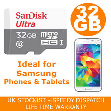 SANDISK ULTRA 32GB MICRO SD CARD PER SAMSUNG GALAXY S2 S3 S4 S5 Mini Neo Tablet