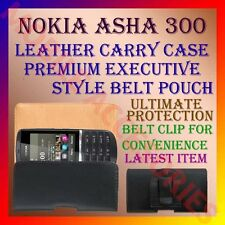 ACM-BELT CASE for NOKIA ASHA 300 MOBILE LEATHER CARRY CASE POUCH COVER PROTECT