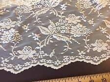 """NEW Nude Stretch Floral Lace Fabric 55""""141cm Double Side Scalp Border Sew Bridal"""