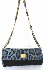 Dolce & Gabbana Miss Martini Charles leopard Denim embroidered Bag