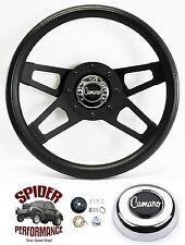 """1969-1994 Camaro steering wheel BLACK 4 SPOKE 13 1/2"""" Grant steering wheel"""
