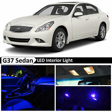 13x Blue Interior LED Light Package Kit 2007-2014 Infinit G35 G37 Sedan + TOOL