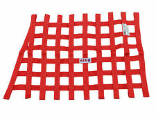 STR Red Window Net Saloon Heavy Duty Trapezoid Angular SFI 27.1 Stock Car Oval