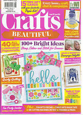 CRAFTS BEAUTIFUL  JUNE, 2016   ISSUE,293 ( 100 + BRIGHT IDEAS STAMP, COLOR AND