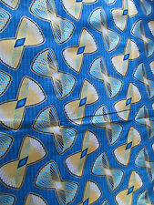 NEW AFRICAN COTTON SUPER WOODIN PRINT FABRIC. 1 YARD