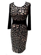 Qualité neuf LAURA ASHLEY entièrement doublés à manches longues robe taille 10 eu 38