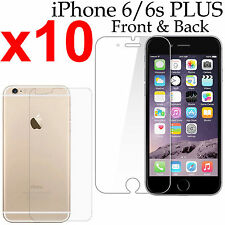 x10 Anti-scratch 4H PET film screen protector iphone 6 6s PLUS front + back