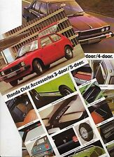 1979 HONDA CIVIC & ACCORD ACCESSORIES Australian Brochure