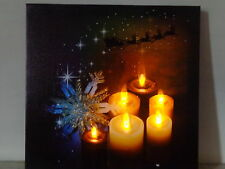 Stunning LED Wall Canvas/Flickering Candles/Christmas Sleigh/Reindeer Lights