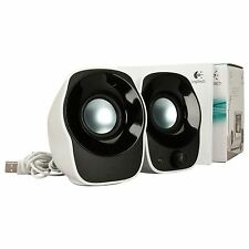 CASSE AUDIO 2.0 LOGITECH Z120 1,2WATT PER PC NOTEBOOK ALIMENTATE USB NERO BIANCO