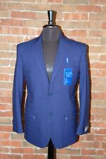 38 S SLIM FIT STUDIO 18  BRAND NEW MENS NAVY BLUE WINDOW PANE 2 BUTTON SUIT