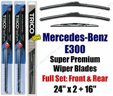 Top-of-the-line Wipers 3pk Front & Rear 1998-99 Mercedes-Benz E300 16240x2/30160