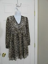 AUTHENTIC MICHAEL KORS V-NECK LEOPARD PRINT DRESS NWT SIZE 6 MSRP $160