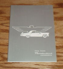 1956 Ford Thunderbird Handbook Owners Operators Manual 56