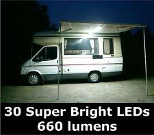 NEW 12v LED Awning Lighting Set. For Caravan, Camper Van, Motorhome. 660 lumen