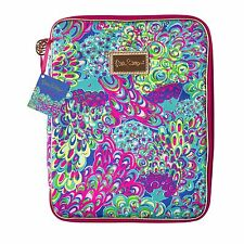 LILLY PULITZER Agenda Folio LILLY'S LAGOON Organizer Case Holds Tablet, Notebook