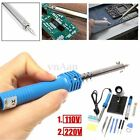 14 in1 60W 110V/220V Electric Soldering Iron Stand Tool Kit Set Desoldering Pump