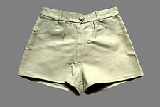 Vintage 80's Leather Shorts High Waisted 10