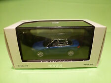 NOREV AUDI A4 CABRIOLET - BLUE  METALLIC 1:43 - MINT IN BOX