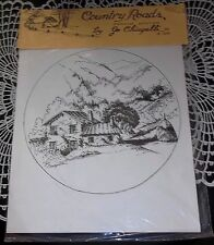Untitled Country Rds Series by Jo Chiapelli Americana Depiction Sketch 1978 USA