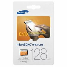 Samsung EVO 128GB microSDXC UHS-I Class 10 Card inc SD Adapter - Up to 48MB/s.